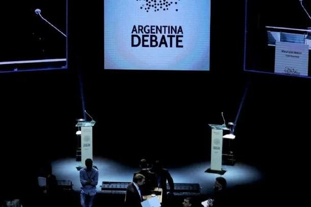 Debate presidencial 2015. Foto archivo.
