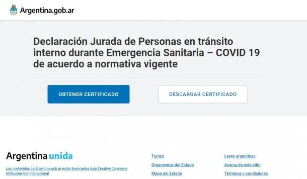 """La """"Certificación para el Regreso a Domicilio Habitual"""" se tramita en Argentina.gob.ar"""