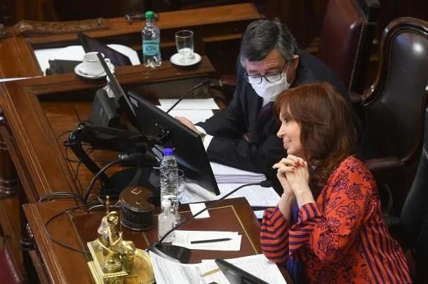 Cristina Kirchner estuvo al mando de la primera de las sesiones virtuales del Senado