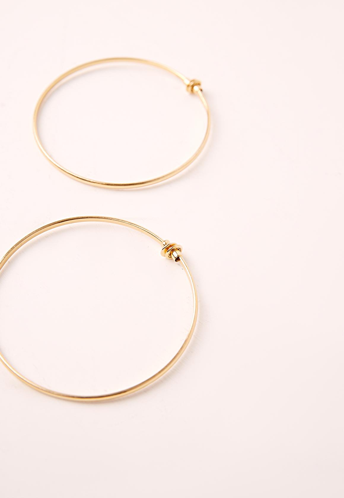 Clip On Classic Hoop Earrings Gold