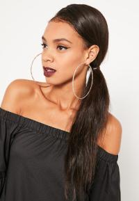 Gold Spiral Oversized Hoop Earrings | Missguided