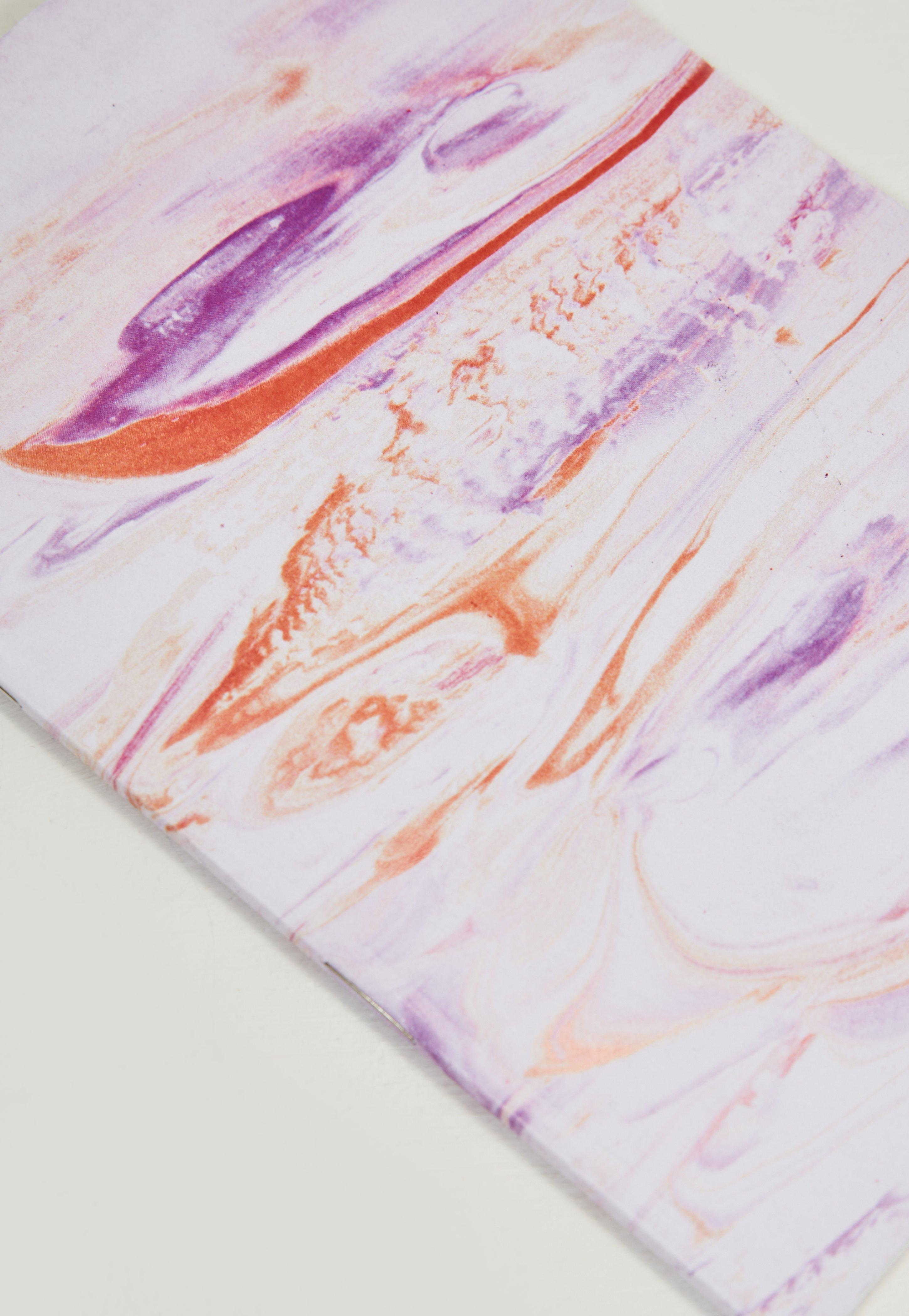 Pink Marble Effect Notebook Missguided