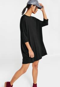 Oversized Raglan T Shirt Dress Black | Missguided