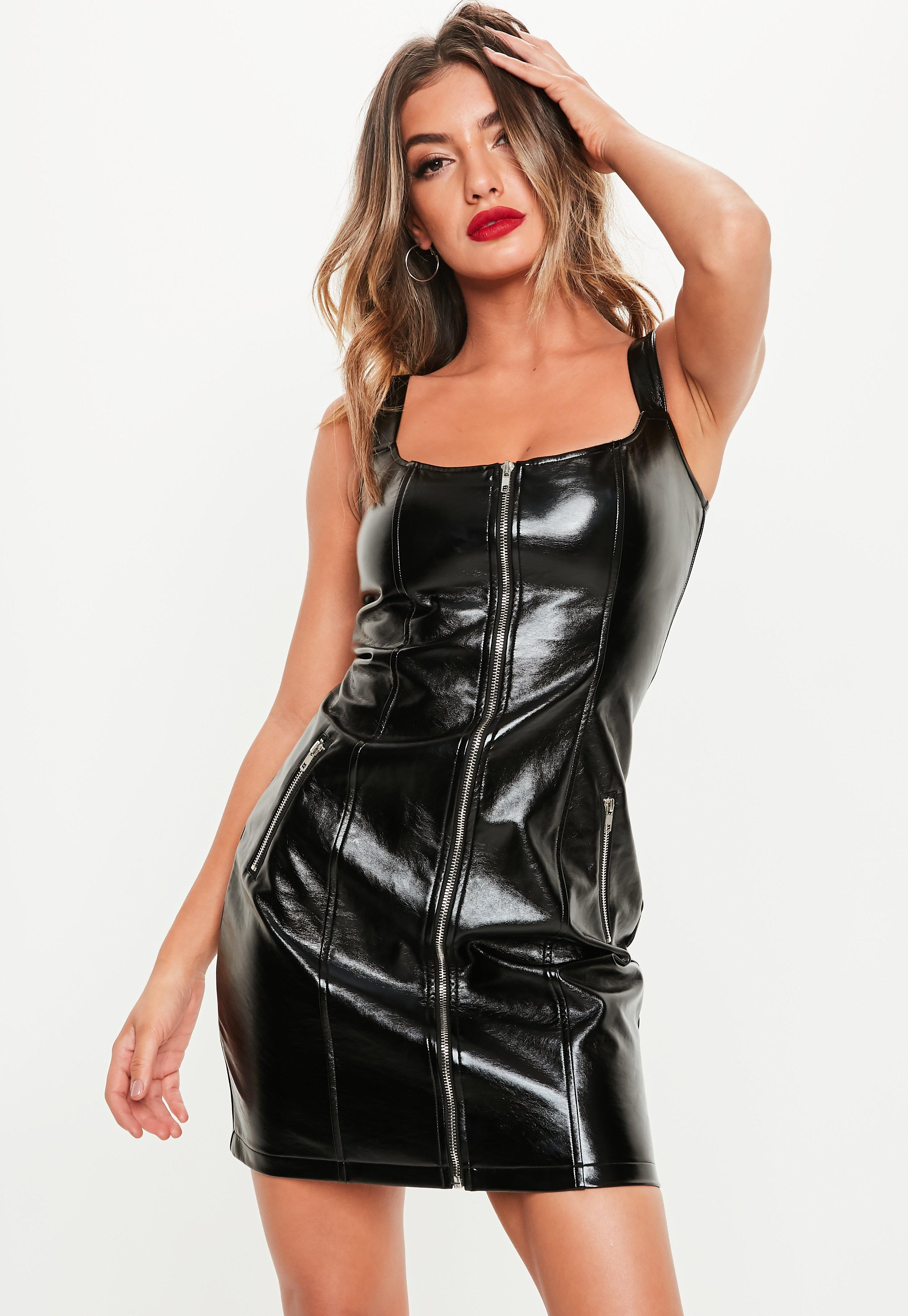 leather dresses faux leather