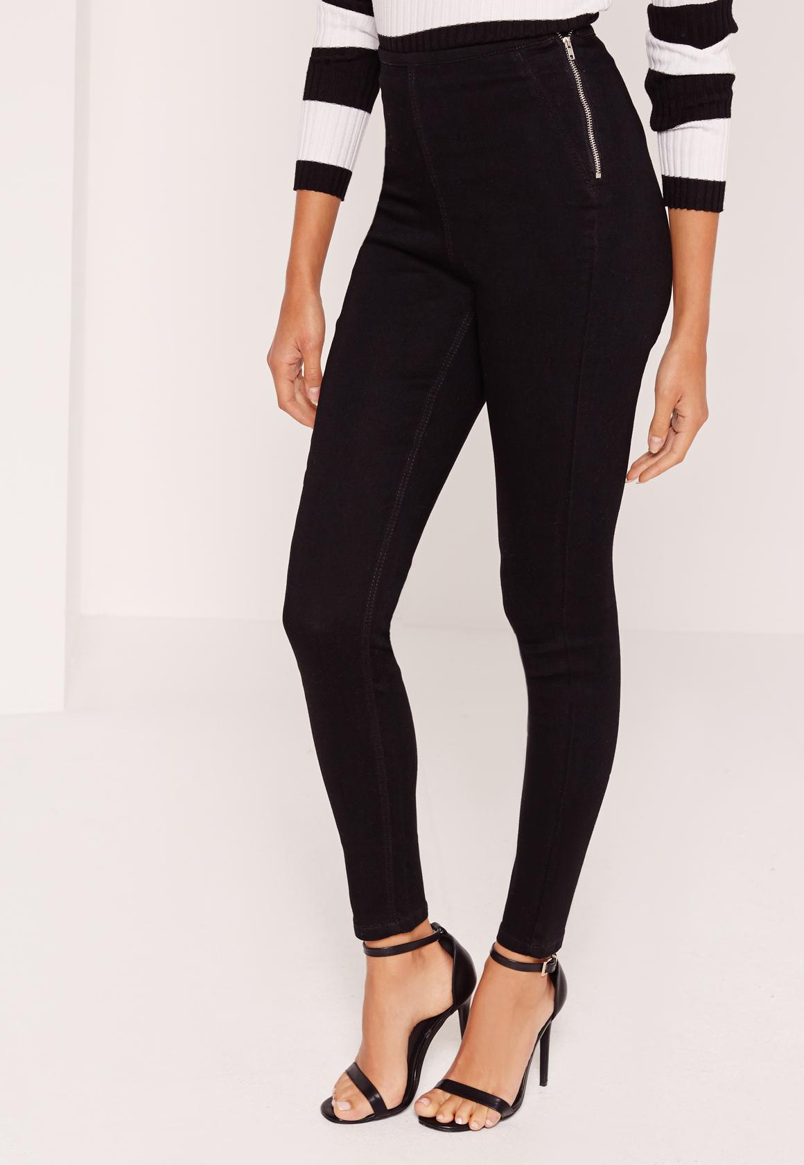 Lawless High Waisted Jeggings Black  Missguided
