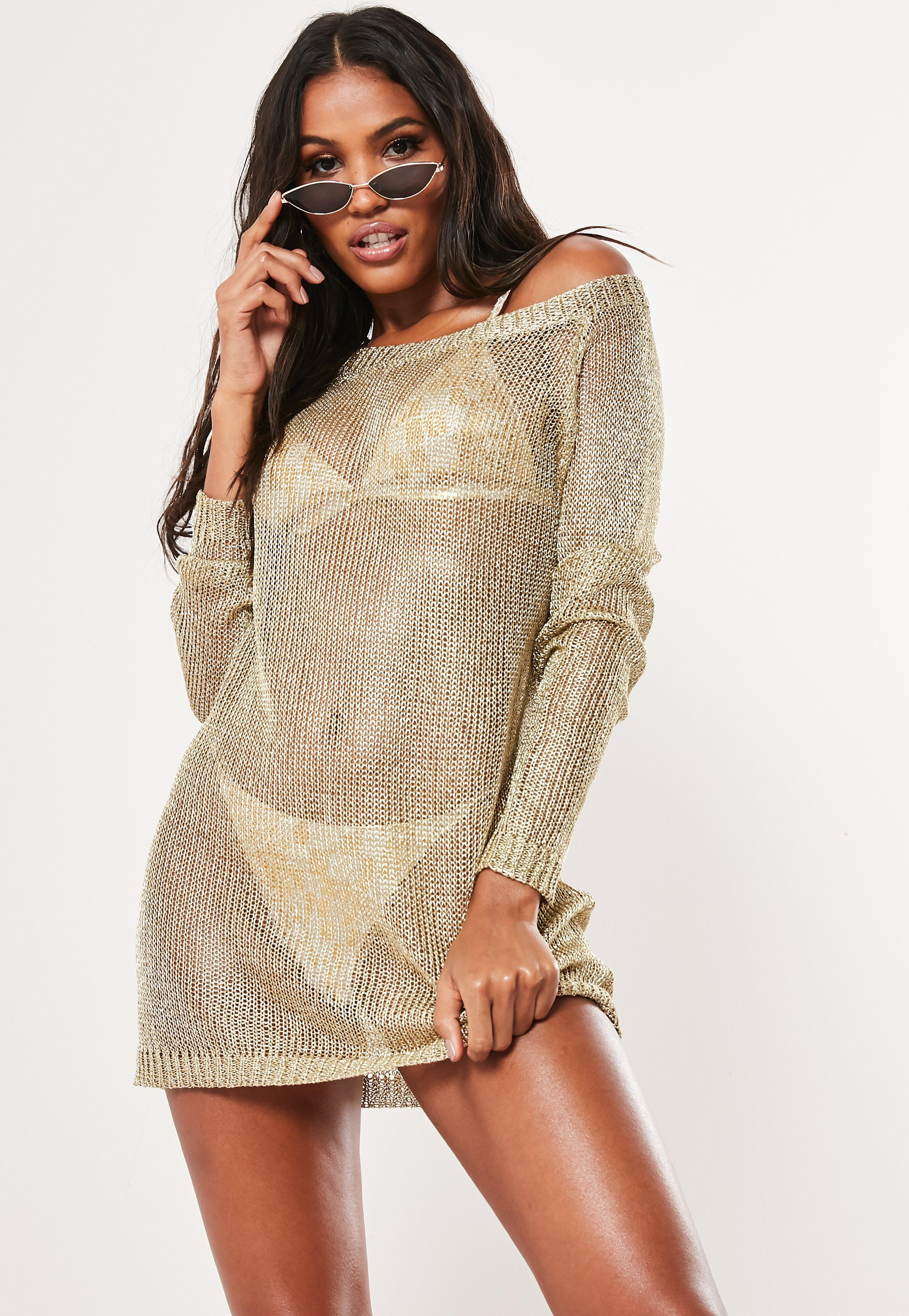 gold metallic off shoulder