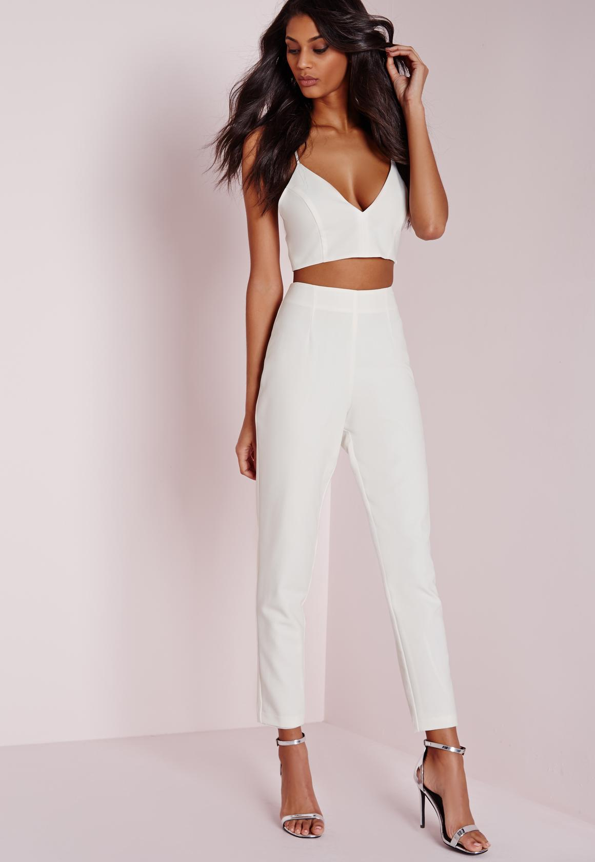 Cigarette Pants Twin White  Missguided
