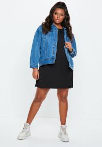 Curve Oversized T-Shirt Dress Black | Missguided