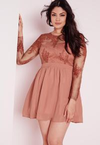 Plus Size Lace Prom Dress Blush | Missguided