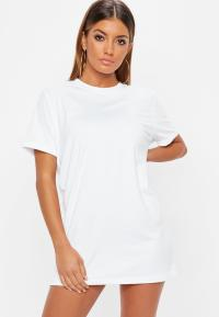 Petite White Plain T Shirt Dress | Missguided