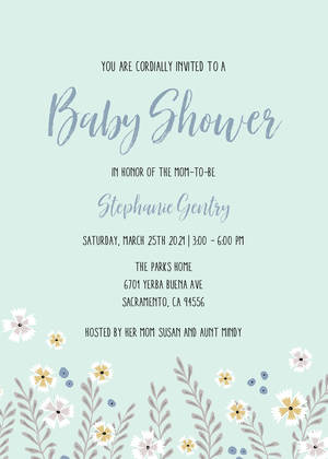 Boys Baby Shower Invitations Template