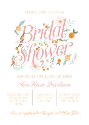 Bridal Shower Invitation Templates Custom Photo Cards