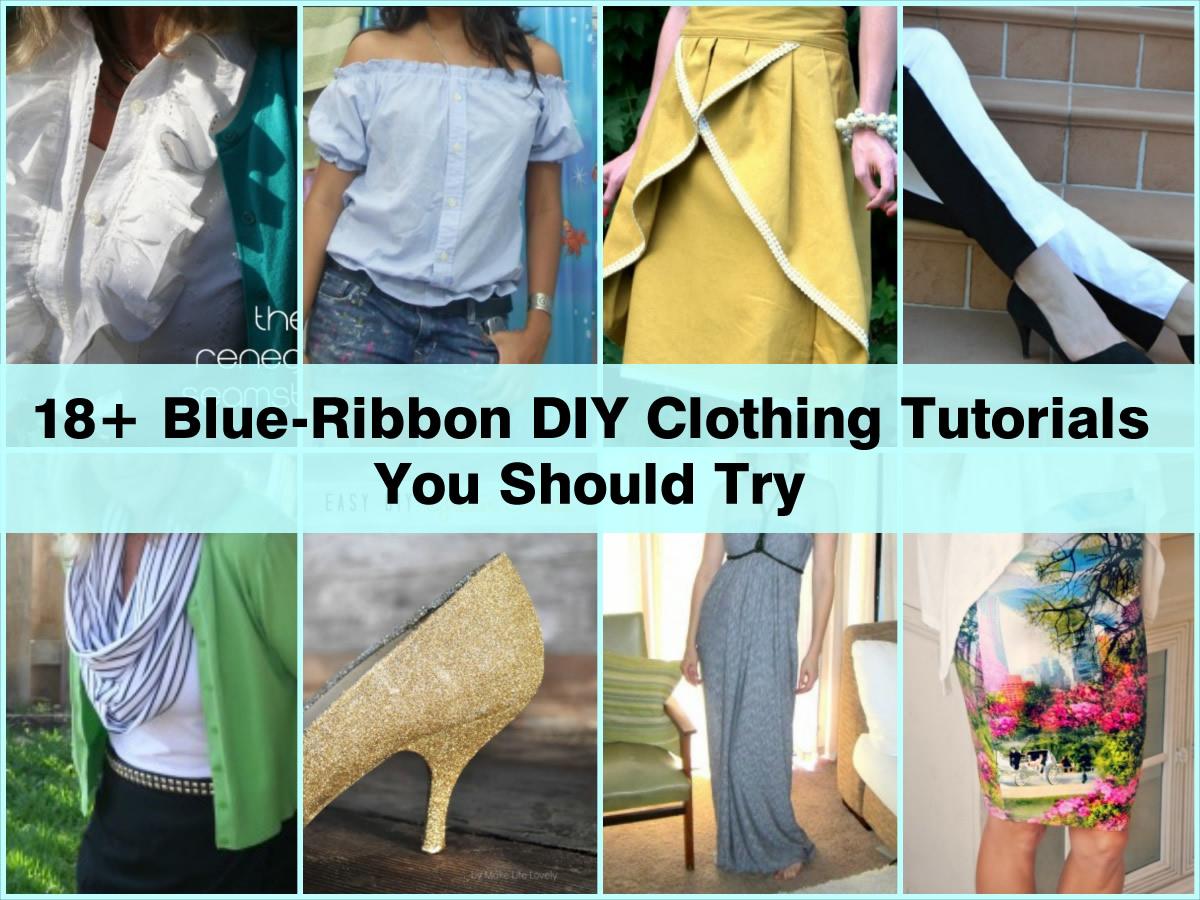18 Blue Ribbon DIY Clothing Tutorials You Should Try