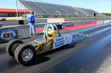 Short Circuit Dragster built by muskegon community college motorsports club