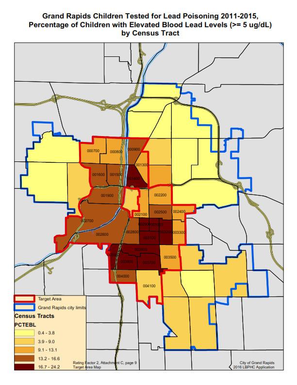 Grand Map Crime Rapids Mi