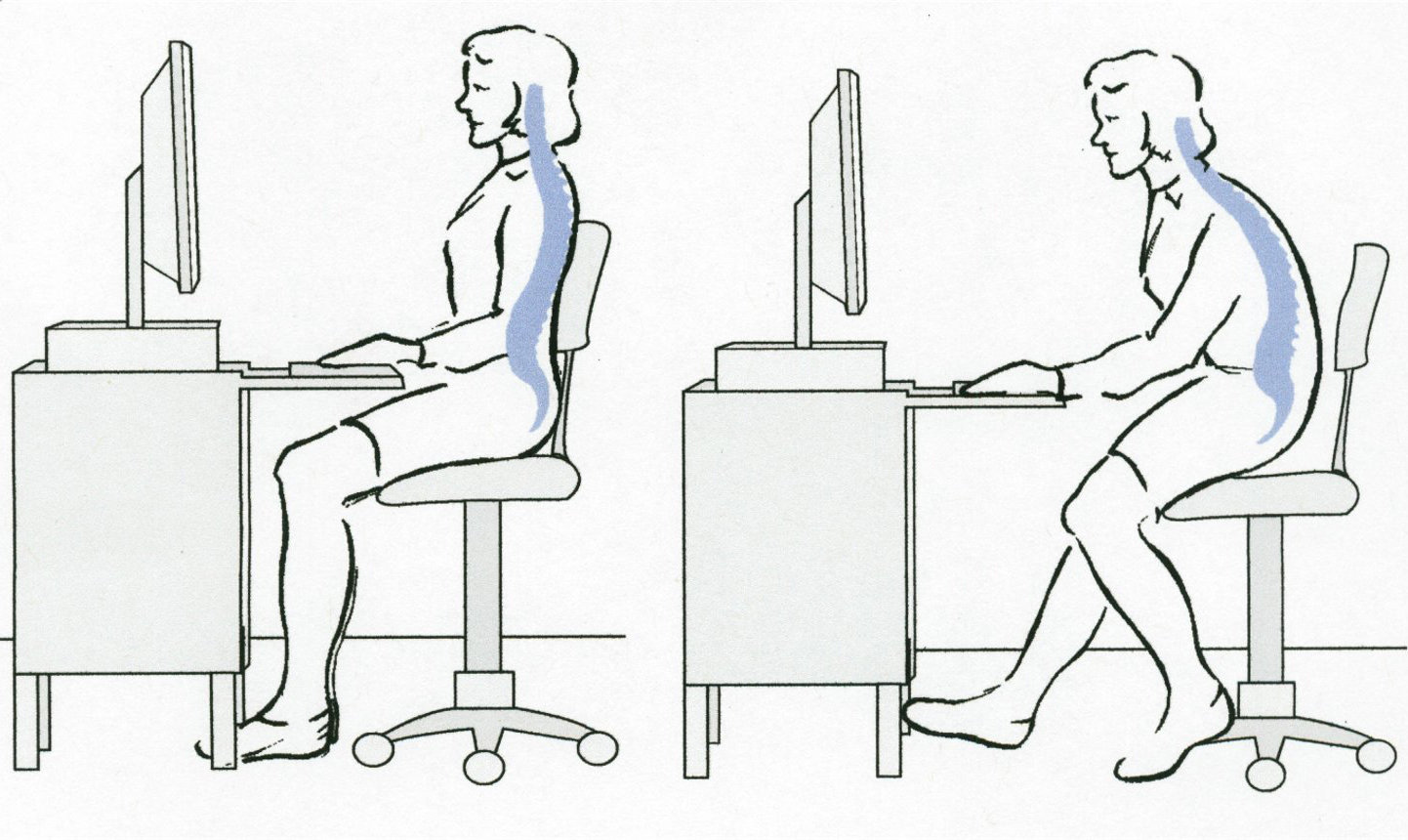 bad posture in chair design terms fix your sit preventing back pain at work fitness for