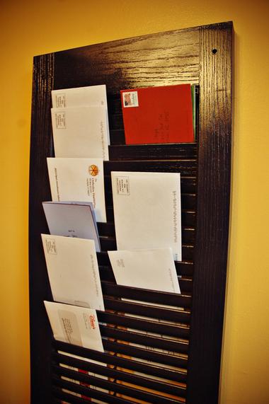 DIY project Shutter Mail Organizer  MLivecom