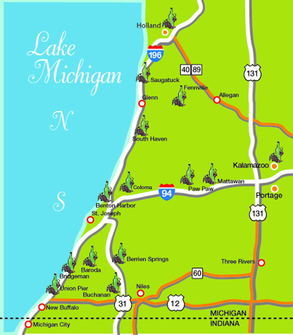 Image result for map of southwestern michigan