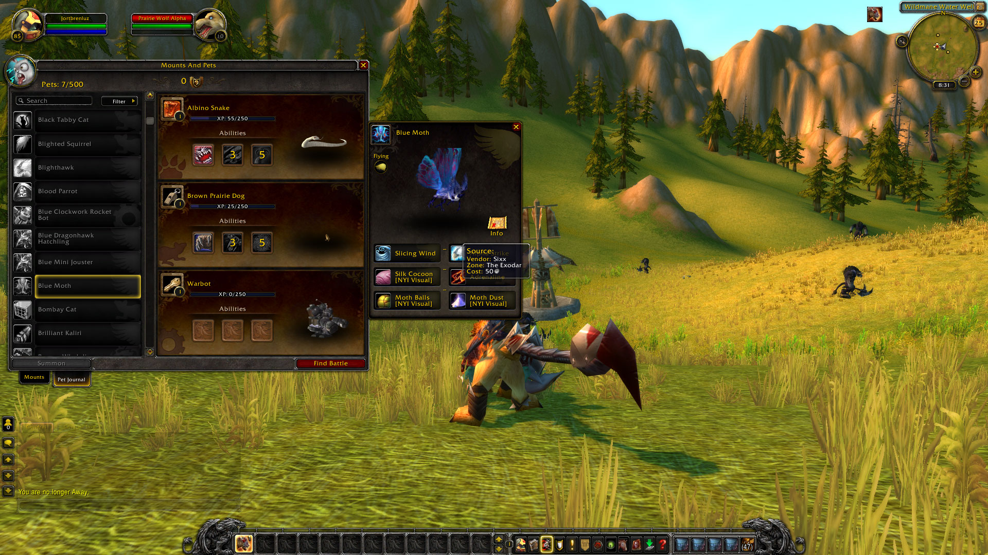 Image of: Horse Full Encyclopedia Directly In The Game Maps Arent Implemented Yet But Currently The Info Page Of Any Pet Will Already Tell You Where You Can Find It Mmochampion Pet Battle System Now On Beta Realms early Version Mmochampion