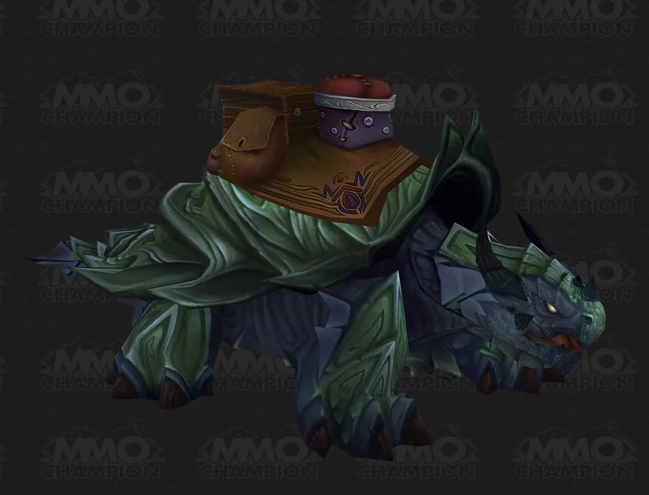 The model for the Pandaren dragon turtle mount from the Mists of Pandaria beta