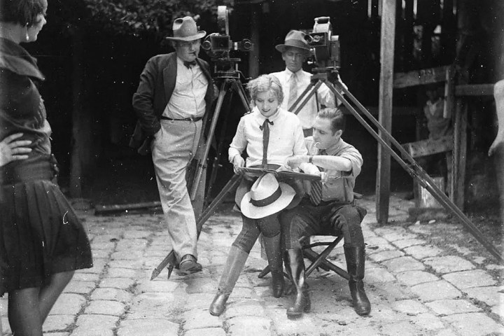 Photo of Hollywood set in the 20s that is representative of video storytelling..