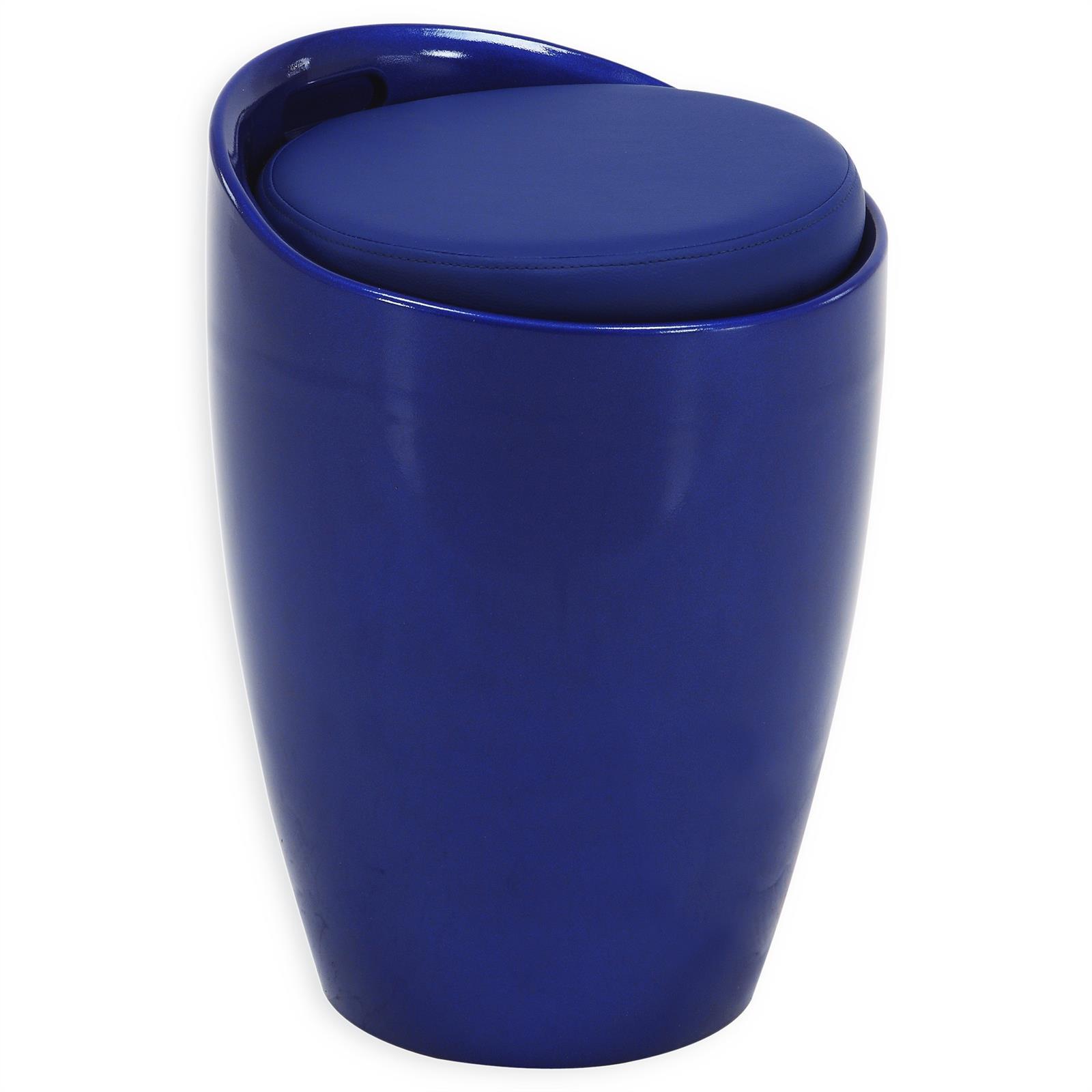 Sitzhocker DANIEL mit Stauraum blau  mobilia24