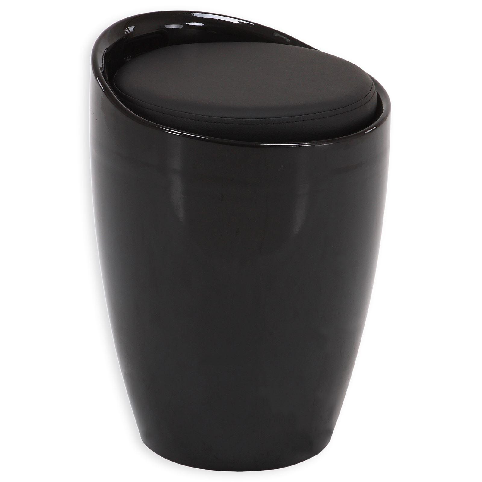 Sitzhocker DANIEL mit Stauraum schwarz  mobilia24