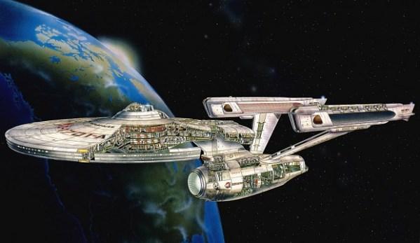 Constitution Class Refit Cutaway Art image Star Trek Fan