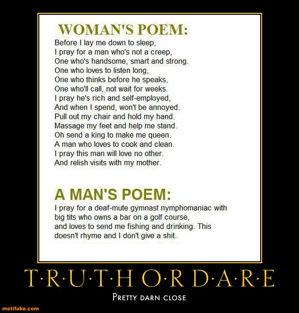 A Man And A Woman S Poem Image Humor Satire Parody