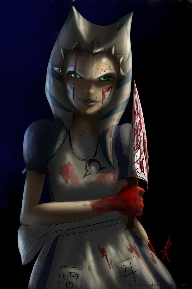 Girl Madness Wallpaper If Ahsoka Turned To The Dark Side For Real Image Clone