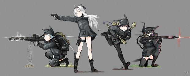 Girls Frontline Wallpaper Sniper Ww2 Anime Soldiers Image Delta33 Mod Db