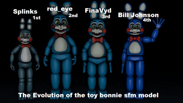 Anime Bad Girl Wallpaper The Evolution Of The Toy Bonnie Sfm Model Image
