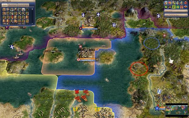 World Map scenario eastern Mediterranean image  Realism Invictus mod for Civilization IV