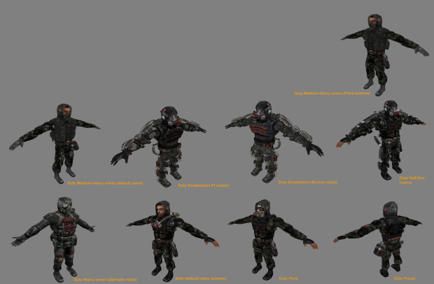 Work in progress, new suit variation for factions. image