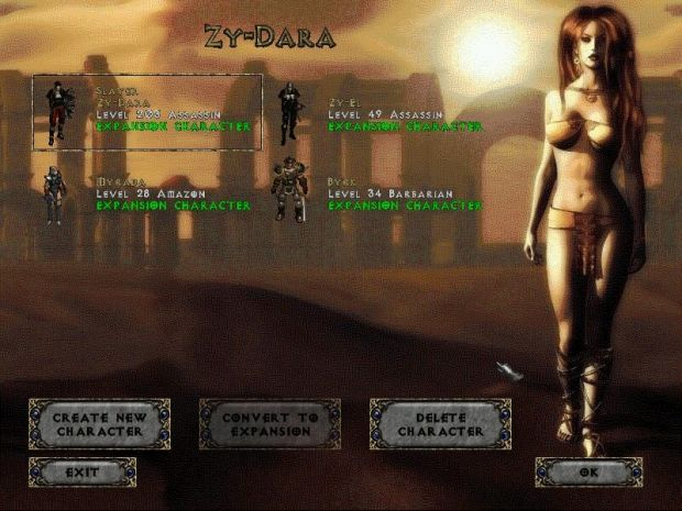 Choose Your Character Image Zy El Trial By Fire Mod For