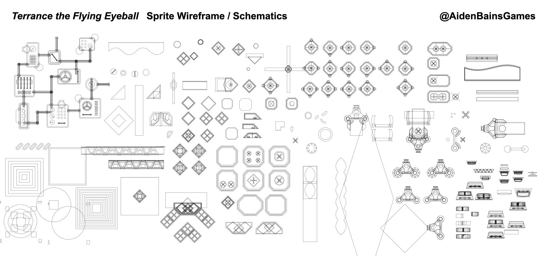 Sprite Wireframe Schematic Render Image