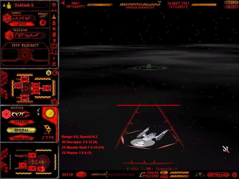 Klingon Heavy Cruiser chasing Federation Frigate image