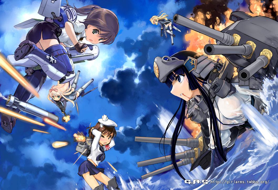 Anime Wallpaper Bad Girls Gun Girls Or Ship And Plane Girls Image Anime Fans