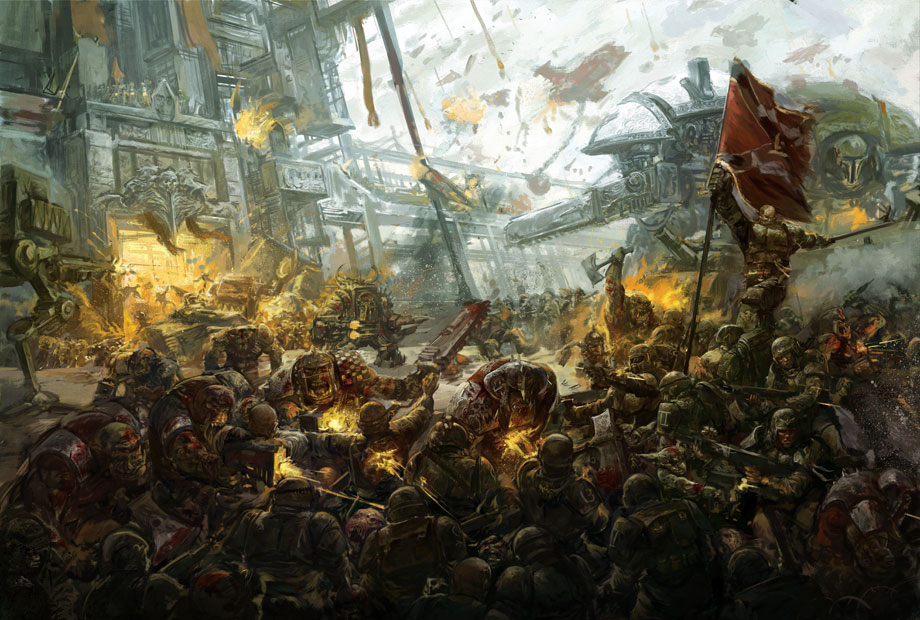 Epic Titan Fall Wallpaper Orks Vs Imperial Guard Image Mod Db