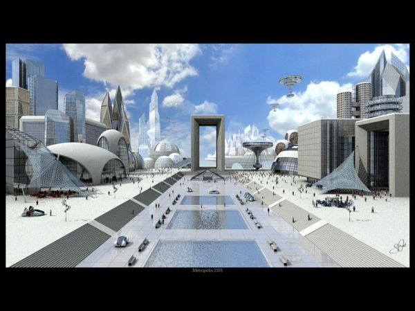 future city's and planet landscapes