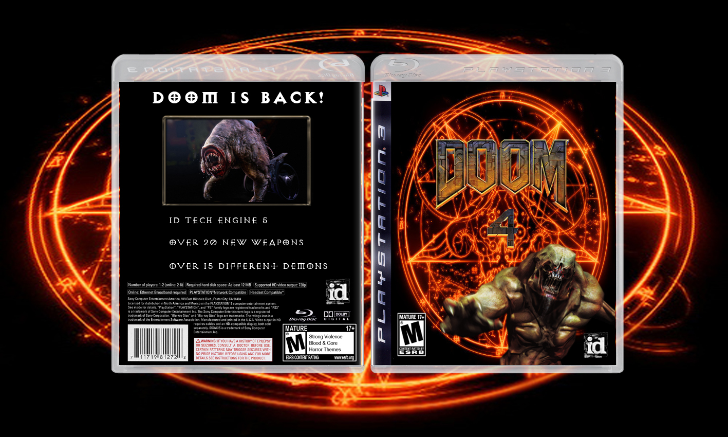 Doom 4 Ps3 Cover Concept Image EVILWEVIL Mod DB