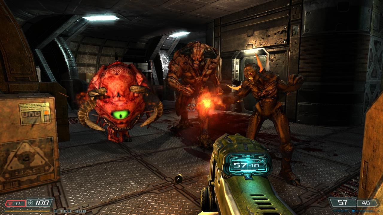 Doom 3 BFG Hi Def Brings Higher Poly Models Better
