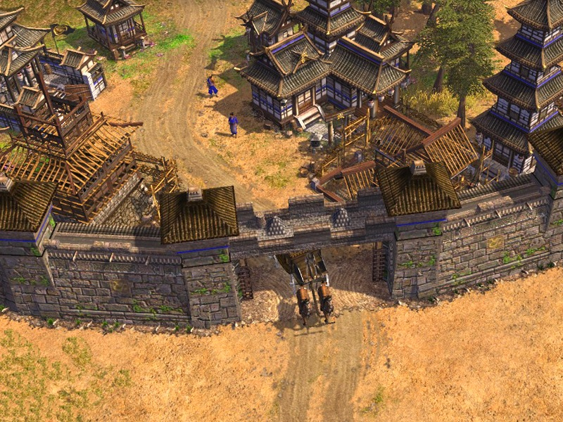 Walls over the trade route image - Extreme Fortification 3.0 mod for Age of Empires III - Mod DB