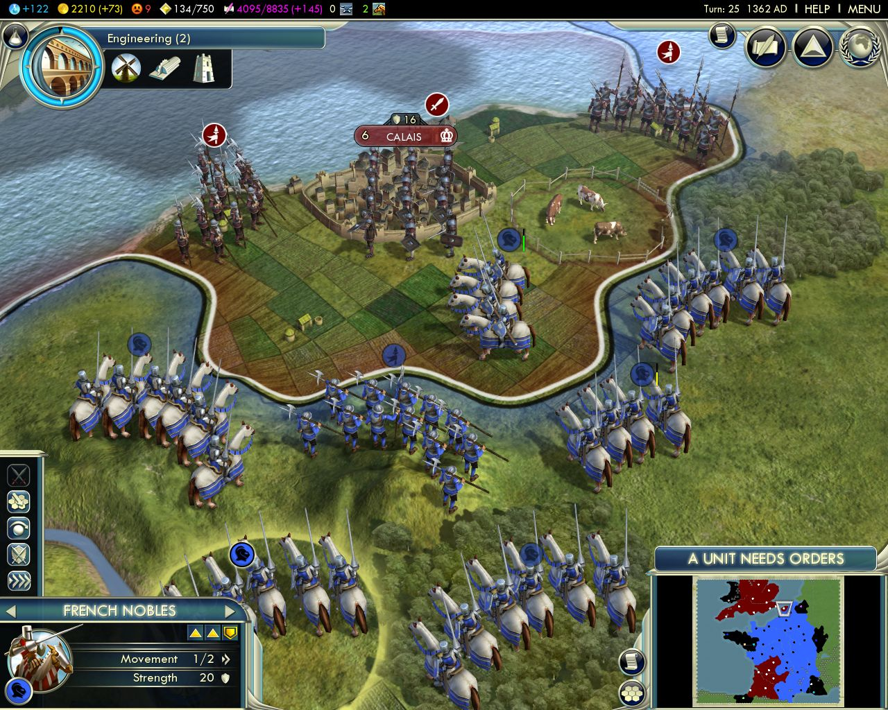 French Knightsing Calais Image