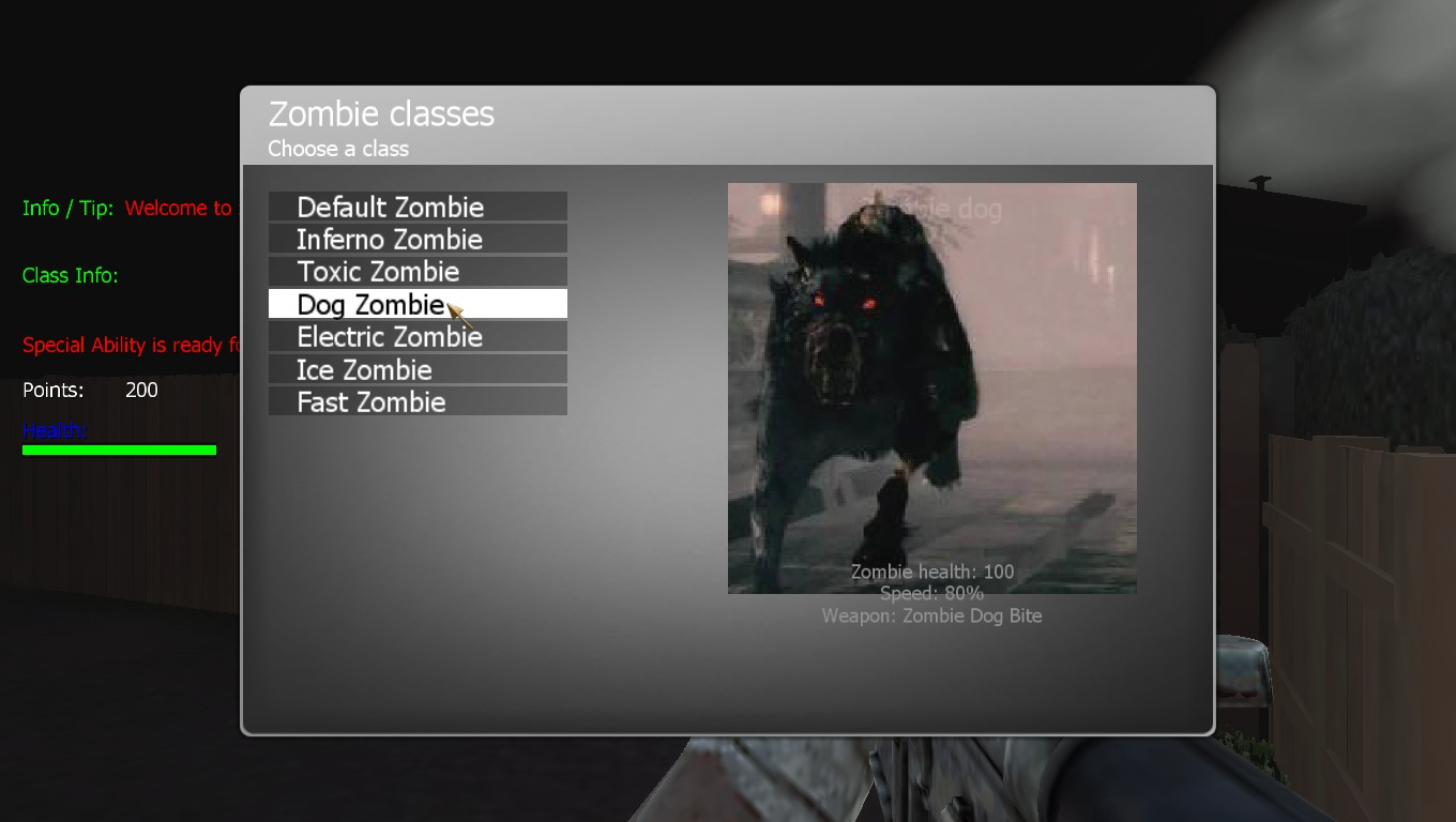 Zombie Dog Image In Class X7ZombieExtMod For Call