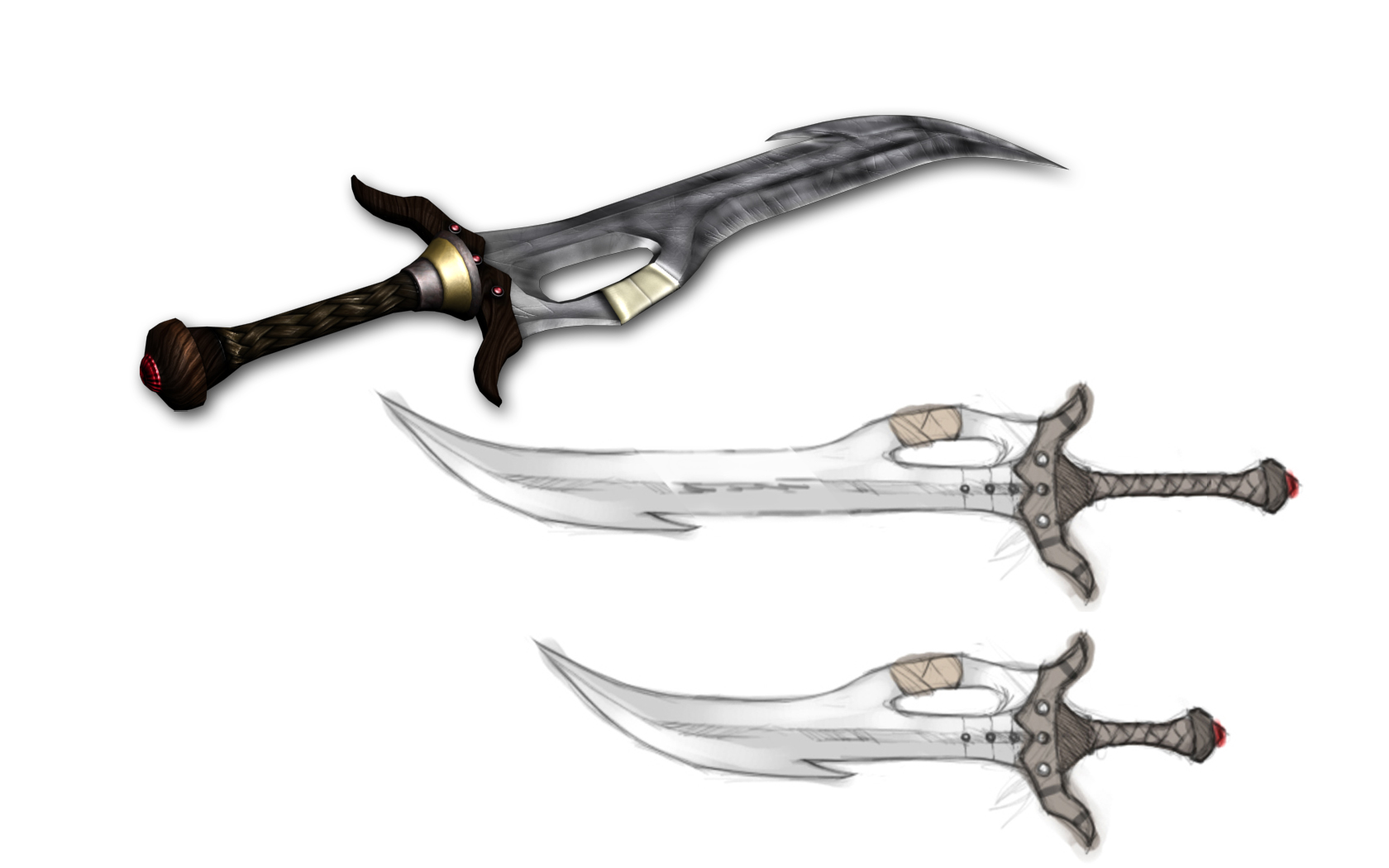 Weapon From Concept To Complete Image