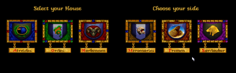 Meer informatie over de verschillende huizen in Dune