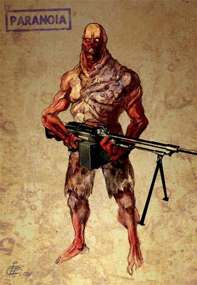 Clone mutant concept image  PARANOIA mod for HalfLife