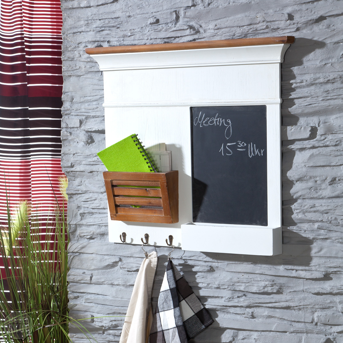 MEMOBOARD PARIS IN PAULOWNIA HOLZ WEISS VINTAGE LOOK