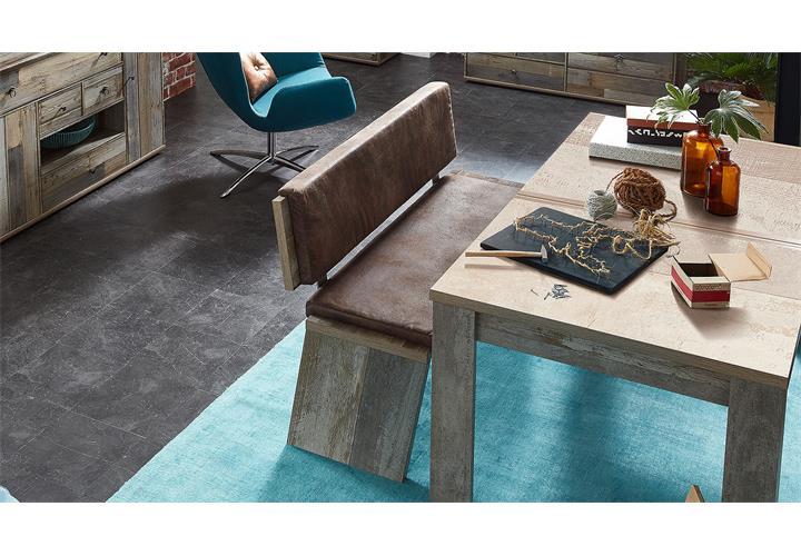 Bank Bonanza Sitzbank mit Rckenlehne Driftwood inkl Sitzkissen braun  eBay
